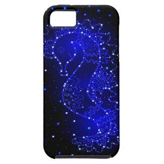 Capa Tough Para iPhone 5 natações do cavalo de mar nas luzes