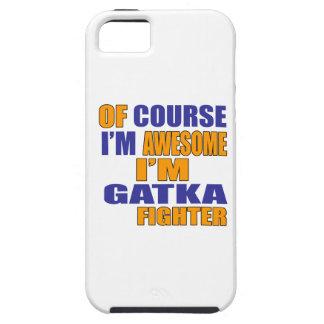 Capa Tough Para iPhone 5 Naturalmente eu sou lutador de Gatka