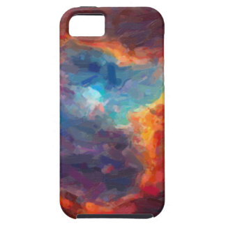 Capa Tough Para iPhone 5 Nebulosa galáctica abstrata com nuvem cósmica 4