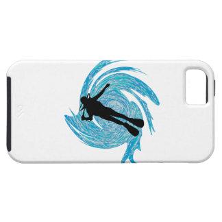 Capa Tough Para iPhone 5 No azul
