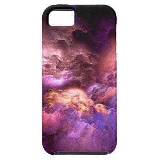 Capa Tough Para iPhone 5 Nuvens roxas irreais