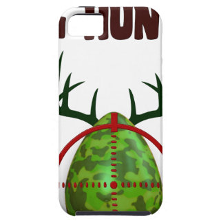 Capa Tough Para iPhone 5 O caçador perito da páscoa, cervo do ovo visa o