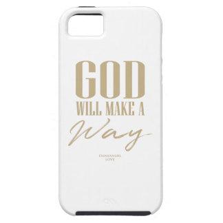 Capa Tough Para iPhone 5 O deus fará uma maneira