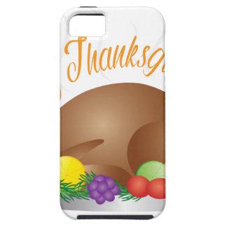 Capa Tough Para iPhone 5 O dia da acção de graças cozeu a ilustração do