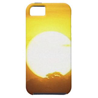Capa Tough Para iPhone 5 o kground adiciona o por do sol CONHECIDO da FOTO