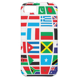 Capa Tough Para iPhone 5 O mundo embandeira o globo