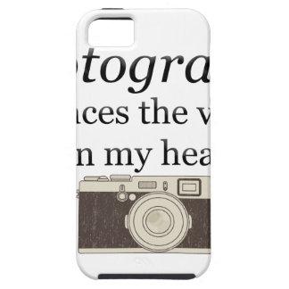 Capa Tough Para iPhone 5 o pstvimhPhotography silencia as vozes em minha