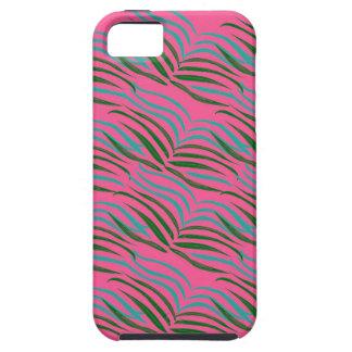 Capa Tough Para iPhone 5 O rosa dos elementos do design sae exótico
