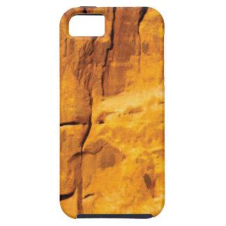 Capa Tough Para iPhone 5 o sol dourado beijou a pedra
