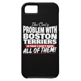Capa Tough Para iPhone 5 O único problema com terrier de Boston
