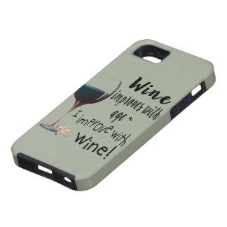 Capa Tough Para iPhone 5 O vinho melhora com idade que eu melhoro com