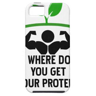 Capa Tough Para iPhone 5 Onde você obtem sua proteína