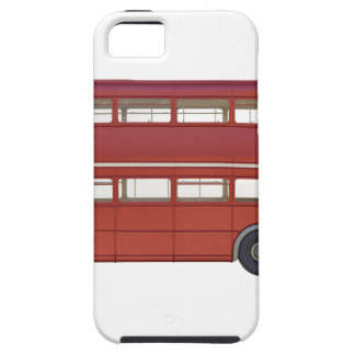 Capa Tough Para iPhone 5 Ônibus do vermelho do autocarro de dois andares