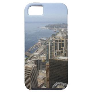 Capa Tough Para iPhone 5 Opinião de Arial de Seattle