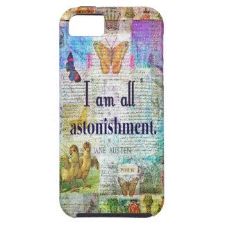 Capa Tough Para iPhone 5 Orgulho de Jane Austen e citações do preconceito