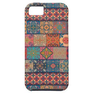 Capa Tough Para iPhone 5 Ornamento de talavera do mosaico do vintage