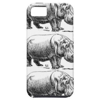 Capa Tough Para iPhone 5 ouro do hippopotamus