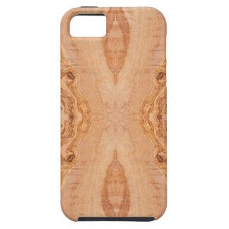 Capa Tough Para iPhone 5 Padrões de superfície de madeira verde-oliva da
