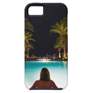 Capa Tough Para iPhone 5 Palmas, piscina, mulher e cerveja…