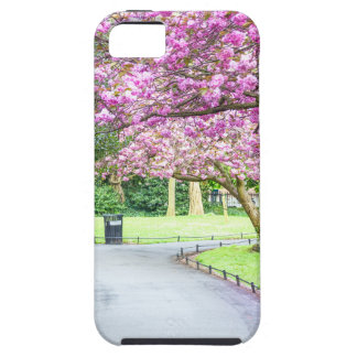 Capa Tough Para iPhone 5 Parque bonito durante o primavera