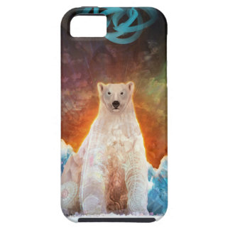 Capa Tough Para iPhone 5 Polarbear encalhado