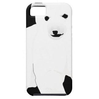 Capa Tough Para iPhone 5 PolarBearCubBlackSF