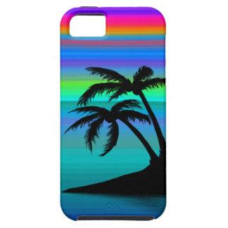 Capa Tough Para iPhone 5 Por do sol tropical da ilha