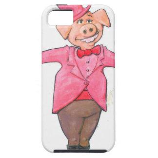 Capa Tough Para iPhone 5 Porco em um chapéu alto