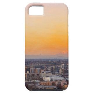 Capa Tough Para iPhone 5 Portland OU arquitectura da cidade e por do sol de