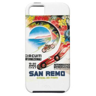Capa Tough Para iPhone 5 Poster 1947 grande da raça de San Remo Prix