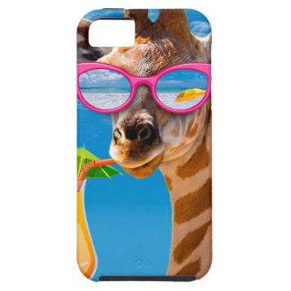Capa Tough Para iPhone 5 Praia do girafa - girafa engraçado