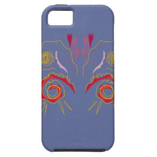 Capa Tough Para iPhone 5 Prata elegante do vermelho do Henna do design