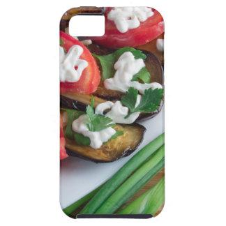 Capa Tough Para iPhone 5 Prato de vegetariano da beringela stewed