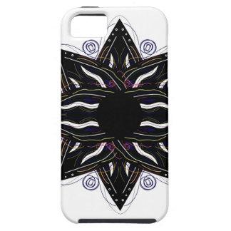 Capa Tough Para iPhone 5 Preto luxuoso do ornamento no branco