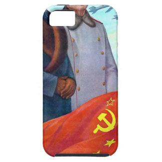 Capa Tough Para iPhone 5 Propaganda original Mao Zedong e Josef Stalin