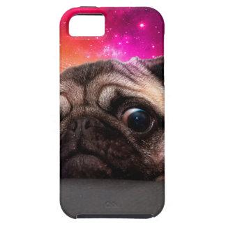Capa Tough Para iPhone 5 pug do espaço - comida do pug - biscoito do pug