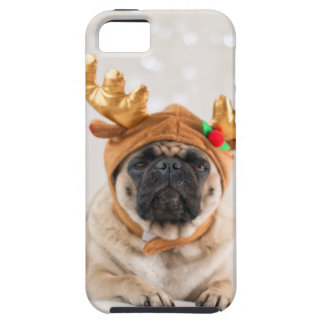 Capa Tough Para iPhone 5 Pug do XMas