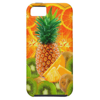 Capa Tough Para iPhone 5 QUIVI HAVAIANO tropical das FATIAS do ABACAXI & da
