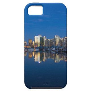 Capa Tough Para iPhone 5 Reflexão azul da hora de Vancôver BC