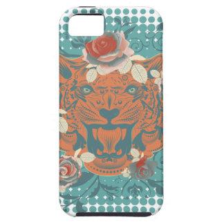 Capa Tough Para iPhone 5 Retrato decorativo 3 do tigre