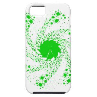 Capa Tough Para iPhone 5 Roda verde do Pin