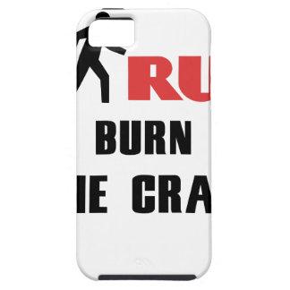 Capa Tough Para iPhone 5 Ruína e saúde, para consumir o louco
