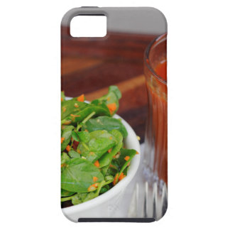 Capa Tough Para iPhone 5 Salada de agrião do molho do tomate da cenoura do