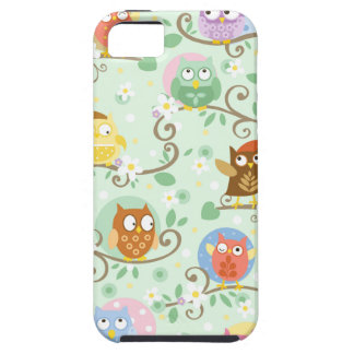Capa Tough Para iPhone 5 SE do iPhone das corujas + caso do iPhone 5/5S