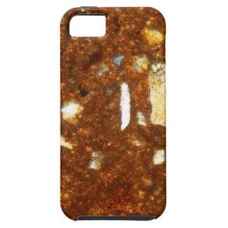 Capa Tough Para iPhone 5 Seção fina de um tijolo sob o microscópio