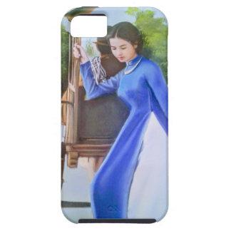 Capa Tough Para iPhone 5 Senhora no azul