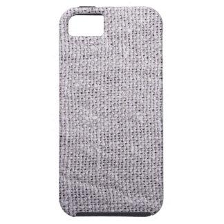 Capa Tough Para iPhone 5 Serapilheira cinzenta do fundo do tecido