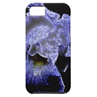 Capa Tough Para iPhone 5 Seu Forevermore caixa azul do iPhone 5 da íris do