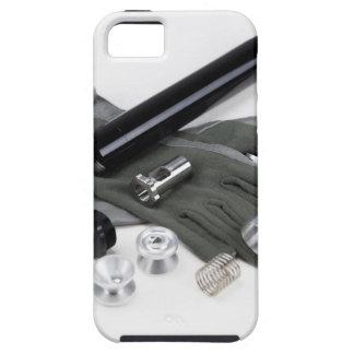 Capa Tough Para iPhone 5 Silenciador do supressor da arma de fogo com luvas