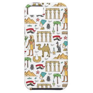 Capa Tough Para iPhone 5 Símbolos da cor do teste padrão de Egipto